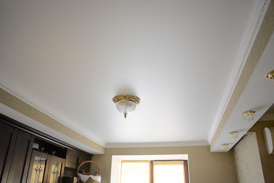 Как покрасить тканевые натяжные потолки