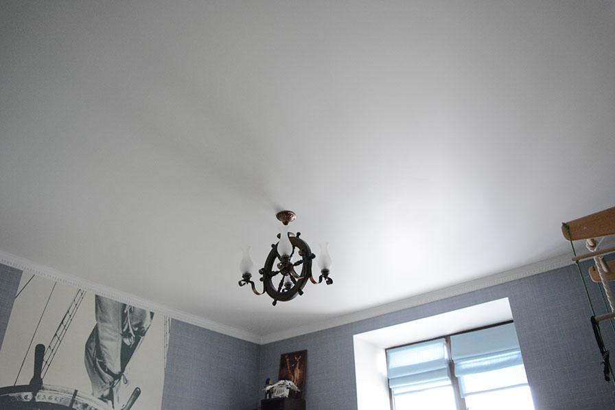 как покрасить тканевые потолки